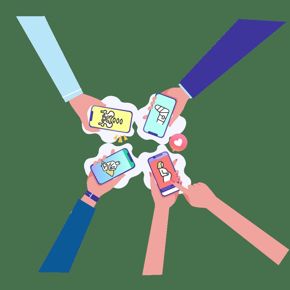 接骨院スマートフォンサイトイメージ